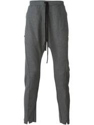 Lost And Found Drop Crotch Trousers Grey