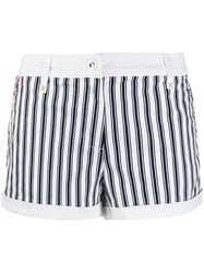 Emporio Armani Ea7 Striped Shorts Blue