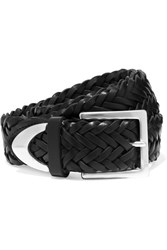 Rag And Bone Braided Leather Belt Black