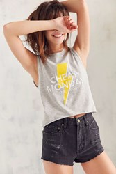 Cheap Monday Lightning Bolt Tank Top Grey