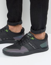 Hugo Boss Green By Feather Reflective Trainers Black