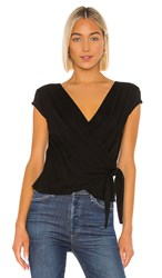 Velvet By Graham And Spencer Amika Top In Black.