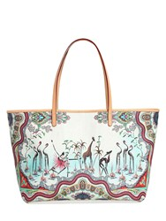 Etro Safari Printed Coated Canvas Tote Bag