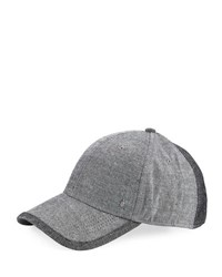 Original Penguin Chambray Curved Baseball Cap Black