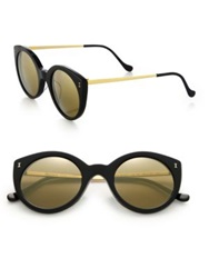 Illesteva Palm Beach 49Mm Cat's Eye Sunglasses Black Gold