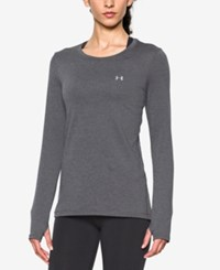 Under Armour Long Sleeve Heatgear Top Carbon Heather