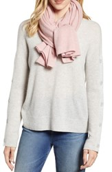 Halogen Solid Cashmere Scarf Pink Rosecloud Heather