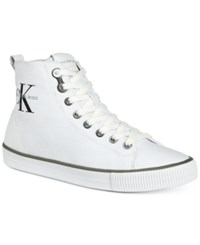 Calvin Klein Jeans Women's Dolores High Top Logo Sneakers Women's Shoes White