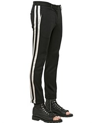 Balmain Wool Gabardine Pants With Satin Stripes