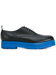 Comme Des Garcons Homme Plus Contrast Sole Stacked Oxford Shoes Black
