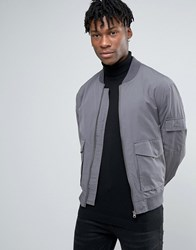New Look Ma1 Bomber In Grey Mid Grey