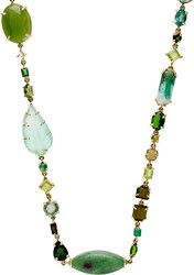 Sharon Khazzam Women's Gemstone Long 'Baby' Necklace Colorless