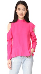 Mlm Label Dylann Ruffle Top Hot Pink