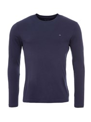 Eden Park Long Sleeved Cotton T Shirt Blue