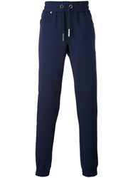 Philipp Plein Classic Track Pants Men Cotton Polyamide Spandex Elastane Viscose M Blue