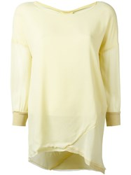 Kristensen Du Nord Asymmetric Hem Blouse Yellow Orange