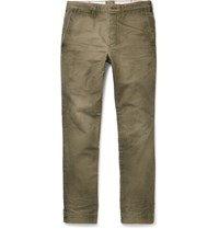 Fabric Brand And Co Tiberias Slim Fit Cotton Chinos Army Green