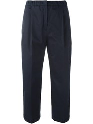 Odeeh Tailored Cropped Pants Blue