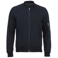A.P.C. Men's Bomber Ma1 Jacket Dark Navy Blue