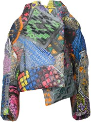 Vivienne Westwood Abstract Print Oversized Coat Multicolour