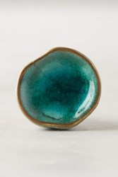 Anthropologie Ocean Crater Knob Blue Green