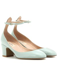 Valentino Tango Patent Leather Pumps Green