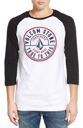 Men's Volcom 'Stone Made' Three Quarter Sleeve Graphic Shirt