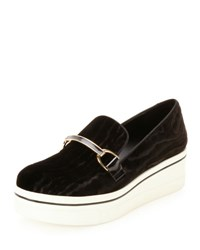Stella Mccartney Binx Velvet Bit Strap Loafer Black