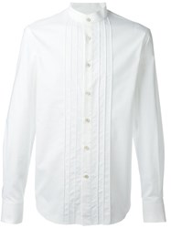 Ermanno Scervino Mandarin Collar Shirt White