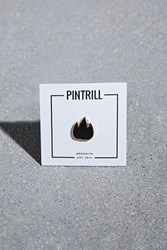Forever 21 Pintrill Black Flame Pin Navy Gold