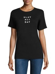 Milly Slay All Day Graphic Tee Black