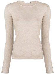 Cruciani Long Sleeved Sweater Nude And Neutrals