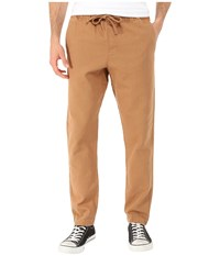 Obey Traveler Canvas Pants Light Brown Men's Casual Pants Tan