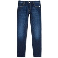 Alexander Mcqueen Slim Embroidered Pocket Jean Blue