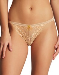 Elle Macpherson Body Knickers Galloon Lace Tanga Sand