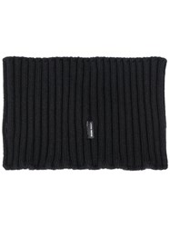 Stone Island Shadow Project Ribbed Turtle Scarf Black