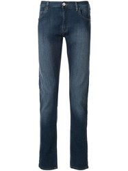 Emporio Armani Slim Faded Jeans Blue