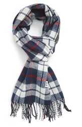 The Rail Plaid Scarf Blue Red Charcoal