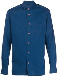 Kiton Long Sleeved Shirt Blue
