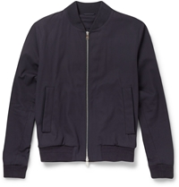 Faconnable Cotton Bomber Jacket Blue