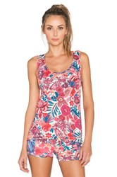 Maaji Blooming The Sky Tank Top Coral