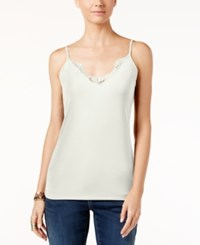 Inc International Concepts Lace Trim Camisole Only At Macy's Washed White