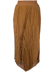 Vince Wrapped Front Skirt Brown