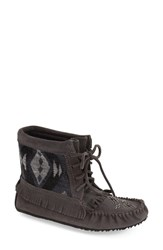 Women's Manitobah Mukluks 'Harvester' Slipper Boot Charcoal