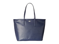 Lacoste Chantaco Medium Tote Peacoat Tote Handbags Blue