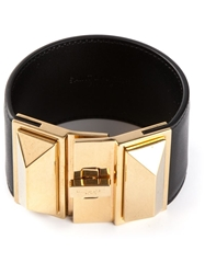 Saint Laurent Pyramid Stud Cuff Black