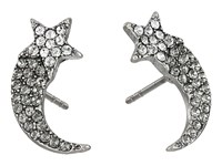 Marc Jacobs Charms Paradise Shooting Star Studs Earrings Crystal Antique Silver