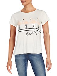 Wildfox Couture Dancing Flamingos Traveler's Tee Vintage Lace