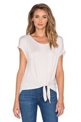 Ella Moss Aliza Knot Front Tee Ivory