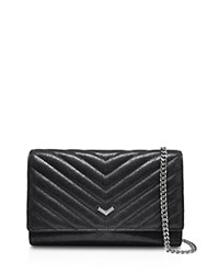 Botkier Soho Quilted Wallet On A Chain Crossbody Black